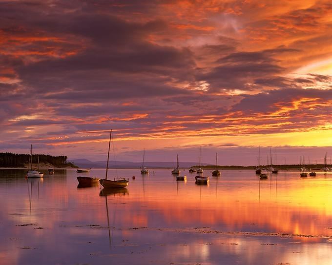 One of my very favourite place, Findhorn in Scotland.