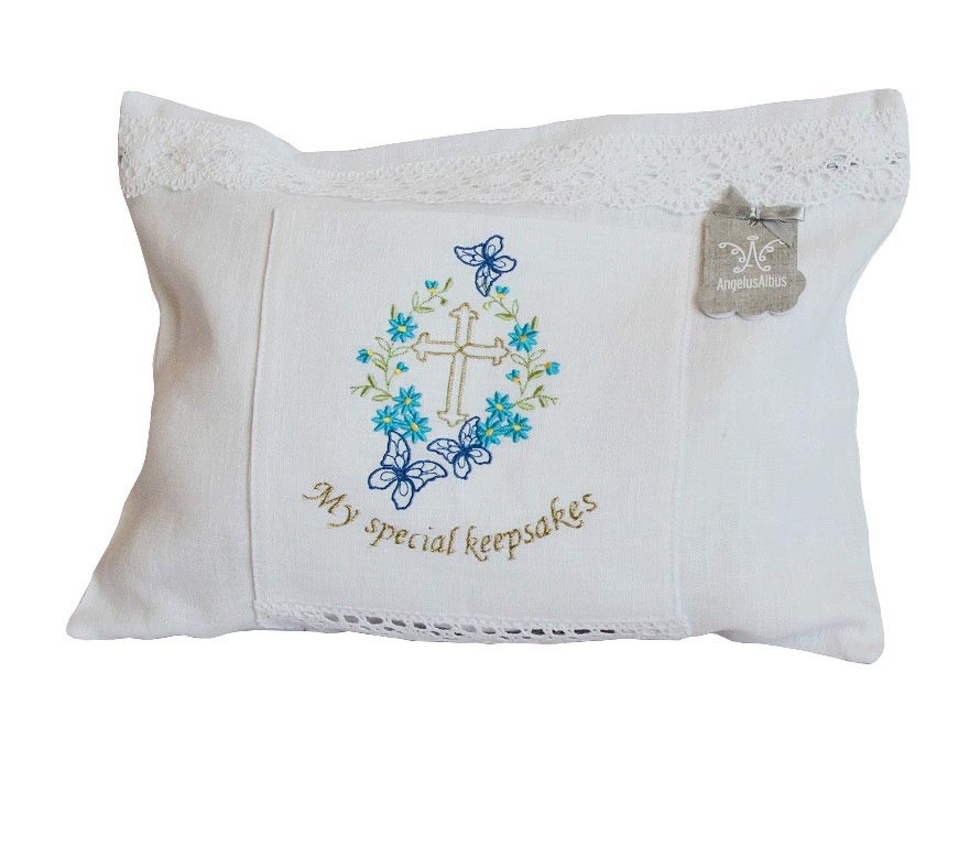 my special keepsakes linen bag