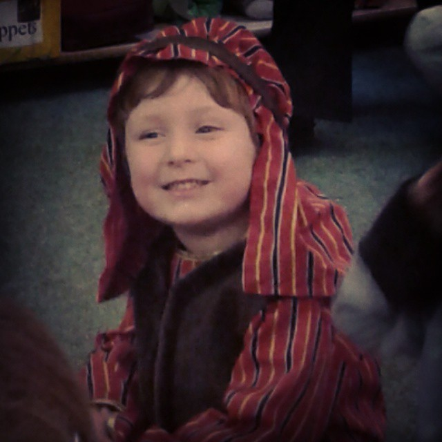 Just a few months ago Taylor was Joseph in his nursery nativity.