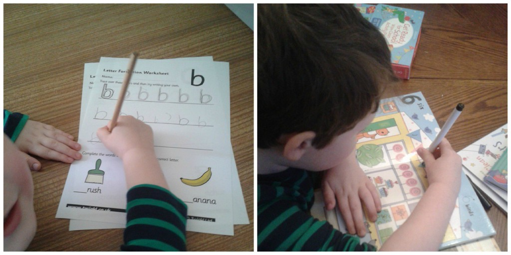 Working on his letters