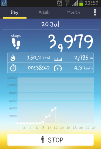 Boosting activity at work, pedometer app