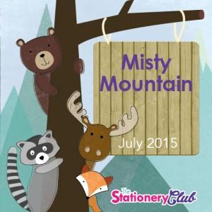 Misty Mountain, stationery theme, Alexia Claire