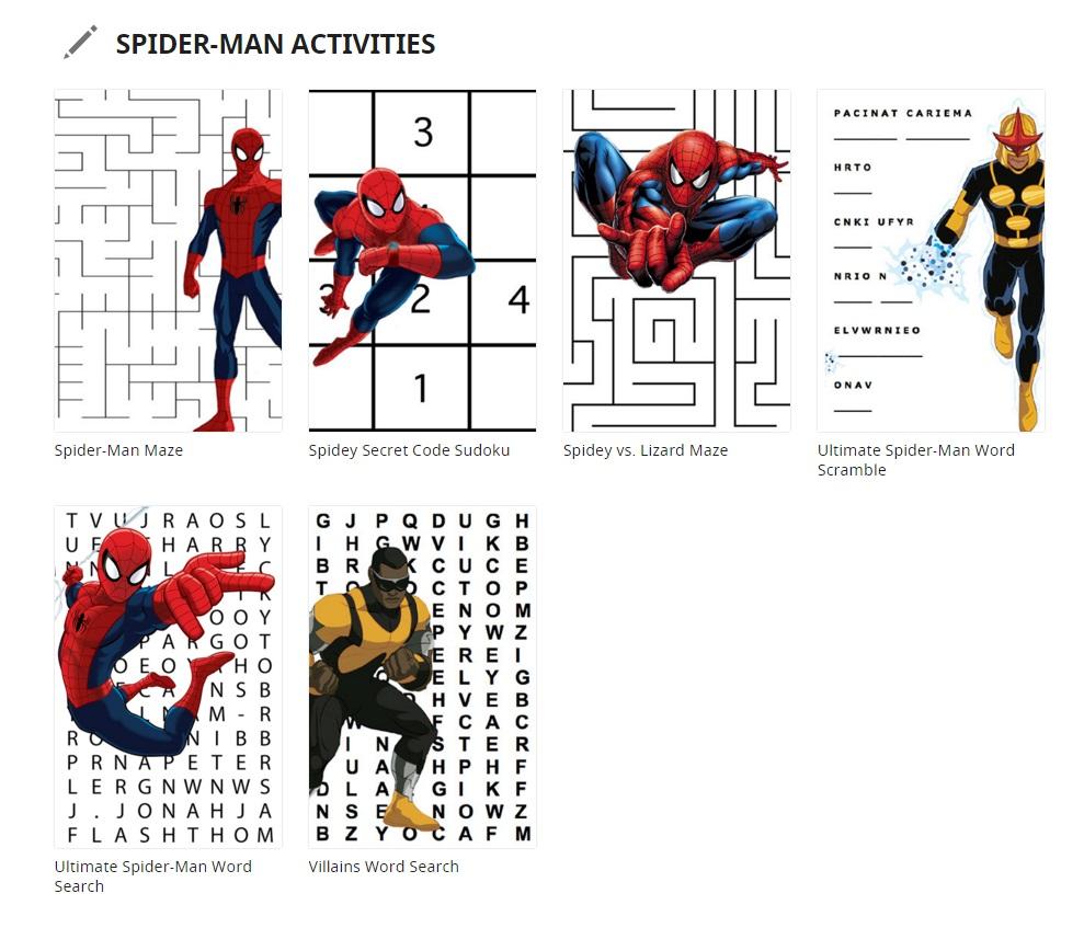 Spidermanactivities