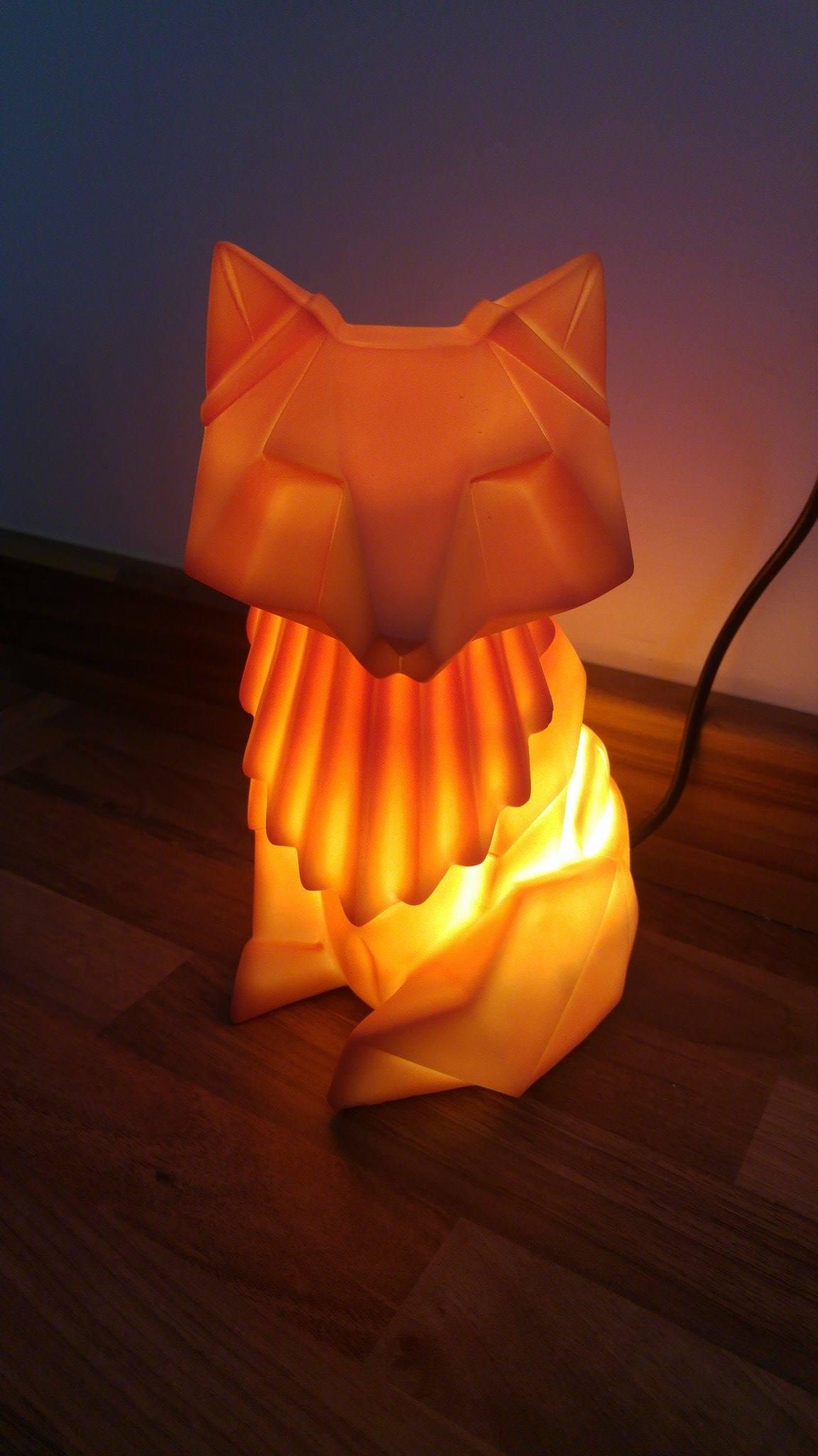 fabulous origami fox lamp