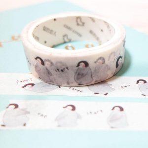 stationery, washi tape. peguins