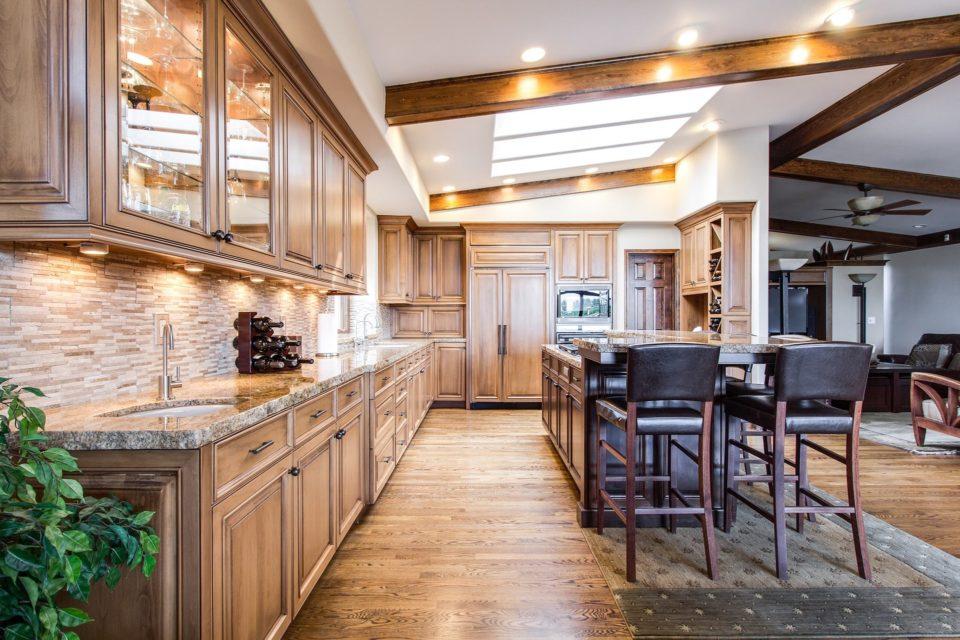 engineered wood flooring, flooring, kitchen