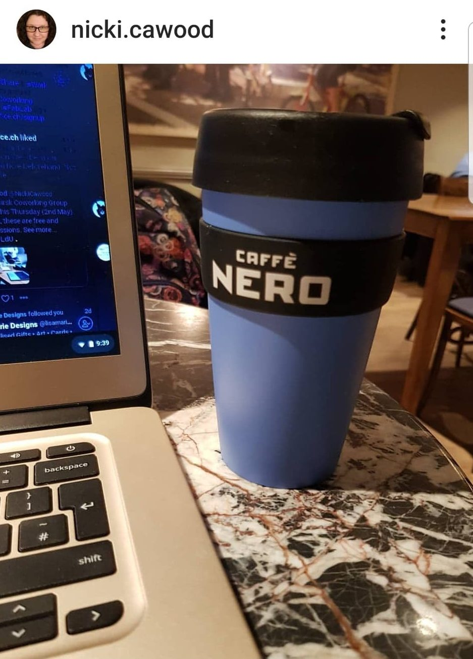 Freelance copywriter, coffee, caffe nero, Thirsk