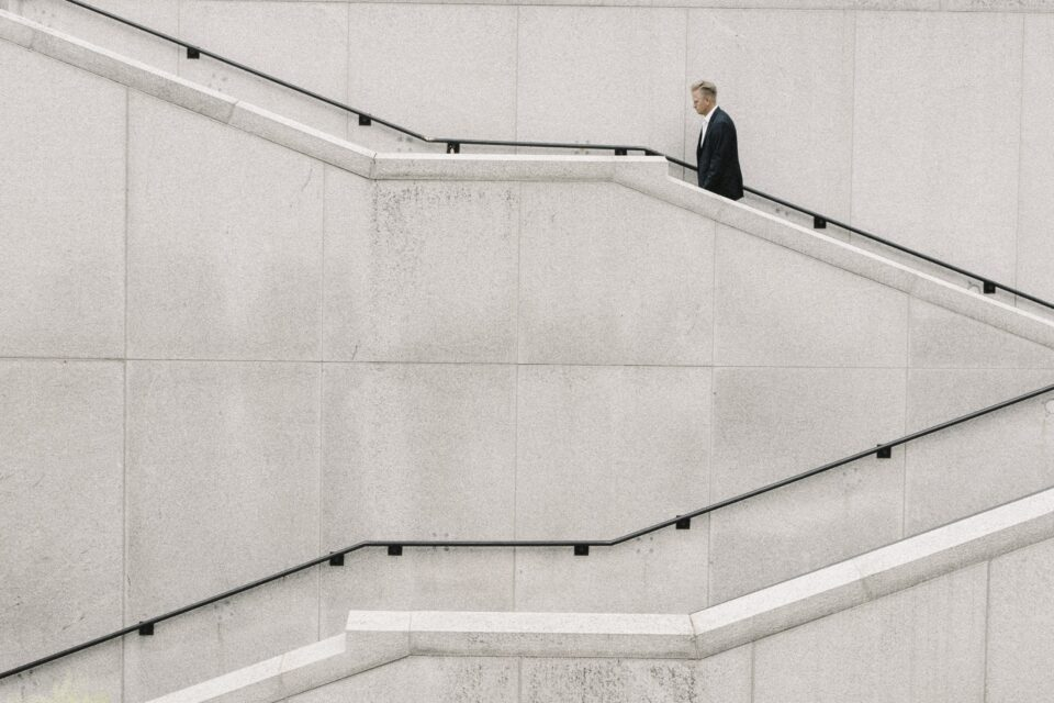 The new normal for businesses, stairs
